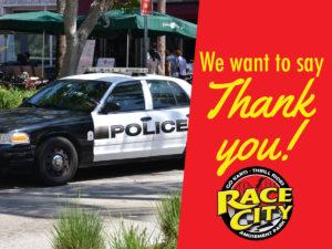 Race City is saying thank you to our local officers on Saturday, September 24th!